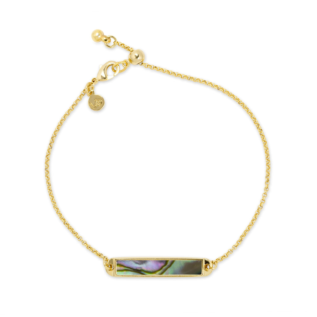 Hudson Slider Bracelet in Abalone Shell-Slider Bracelet-finish:18kt Gold Plated-Luca + Danni