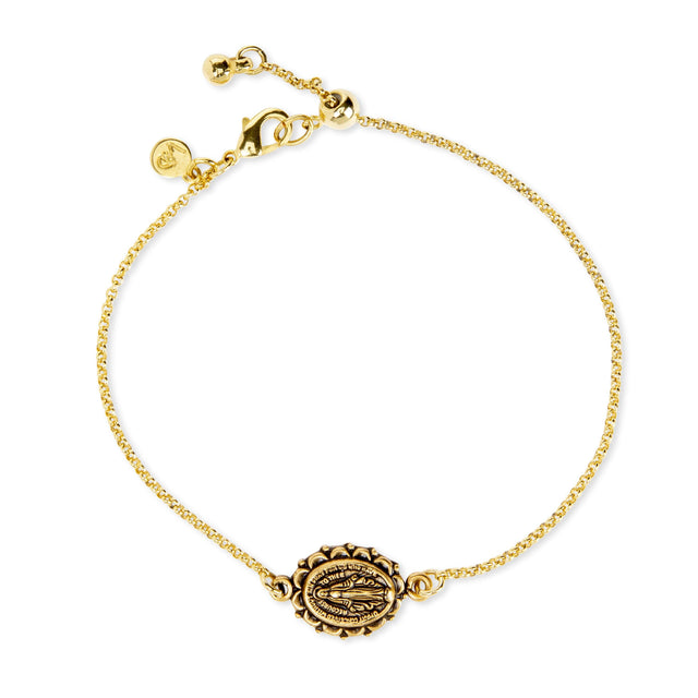 Miraculous Medal Bracelet Finish:18k Gold Plated