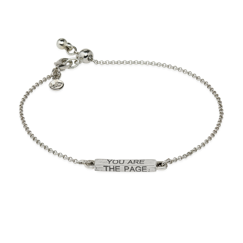You Are The Page Slider Bracelet choose finish: