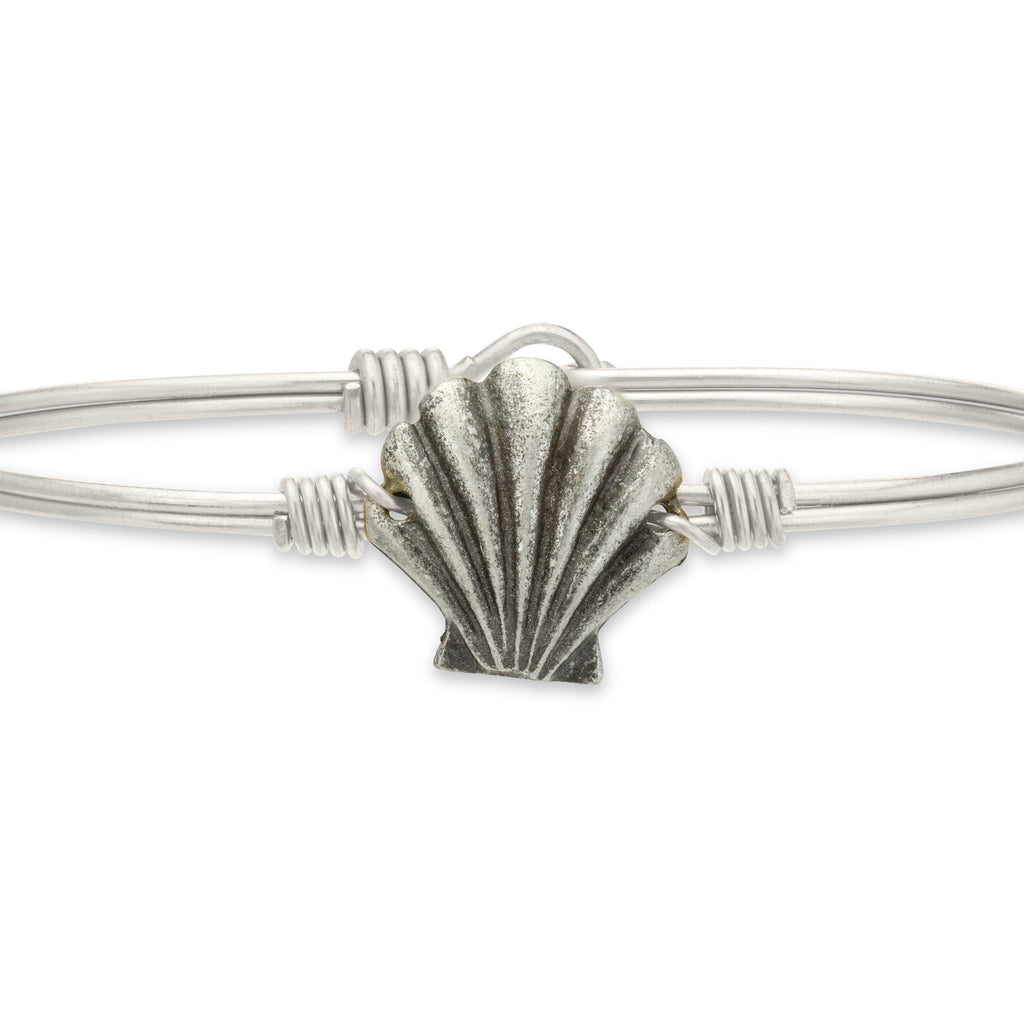 Shell Bangle Bracelet-Bangle Bracelet-Finish:Regular-Luca + Danni