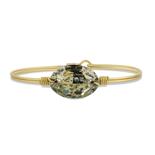 Ophelia Bangle Bracelet in Golden Petina finish:Brass Tone