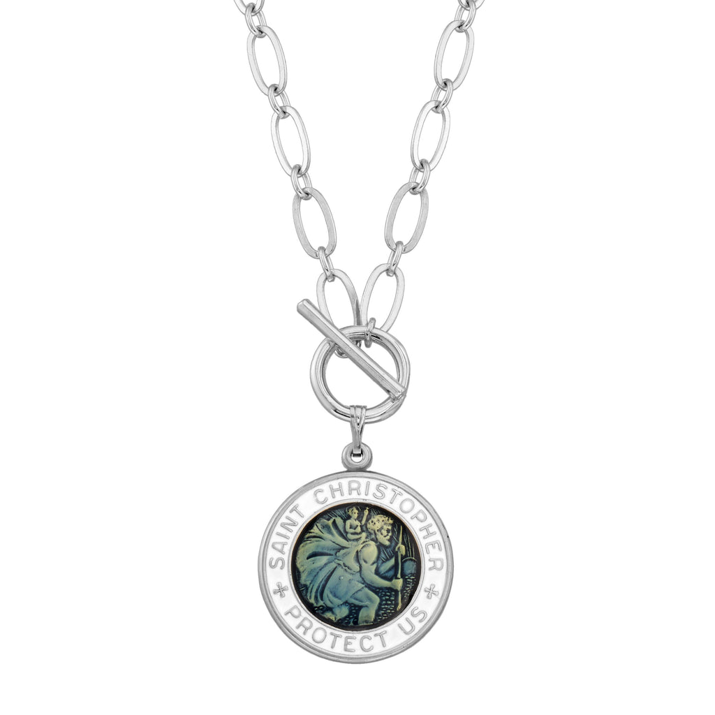 Saint Christopher Toggle Necklace
