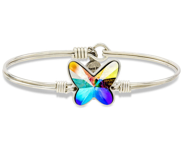 Crystal AB Mother's Day Butterfly Bangle Bracelet (Limited Edition)
