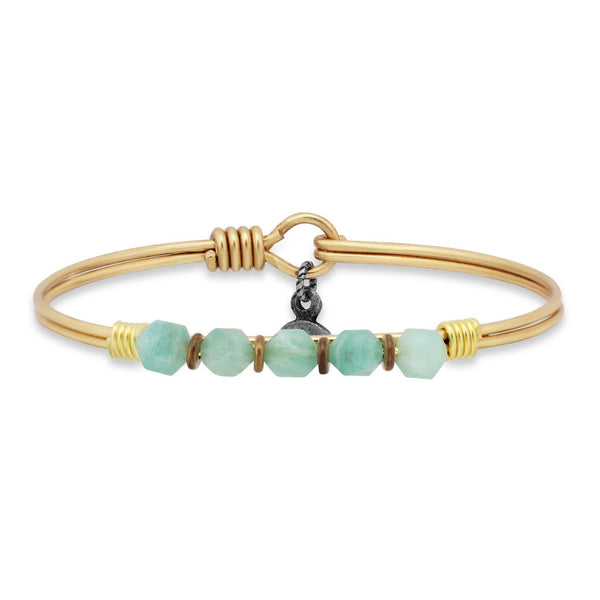 Soul Food Semi Precious Bangle in Amazonite