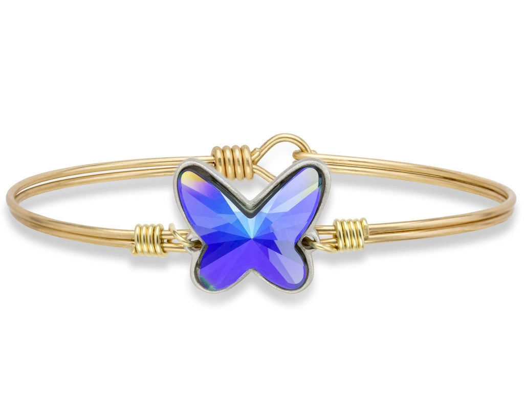Arctic Blue Butterfly Bangle Bracelet (Limited Release)