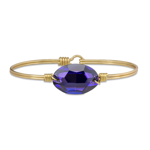 Ophelia Bangle Bracelet in Heliotrope finish:Brass Tone