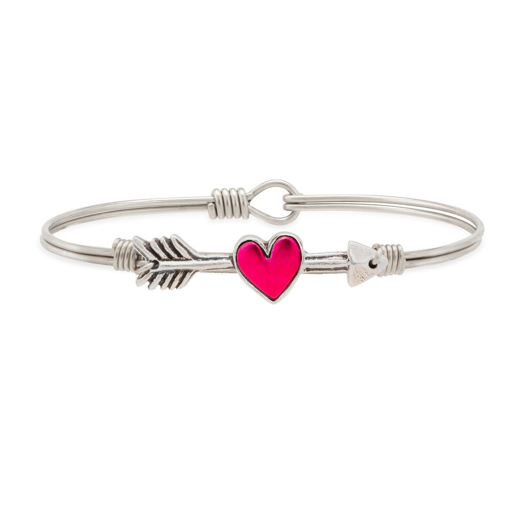 Cupid's Arrow Bangle Bracelet choose finish:Silver Tone