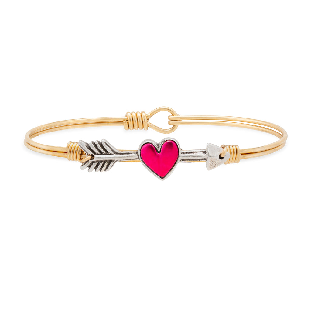 Cupid's Arrow Bangle Bracelet choose finish:Brass Tone