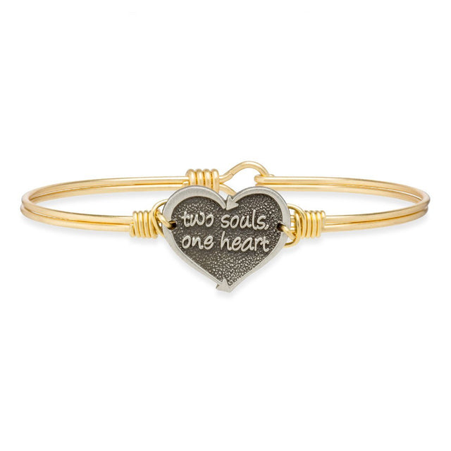 One Heart Bangle Bracelet
