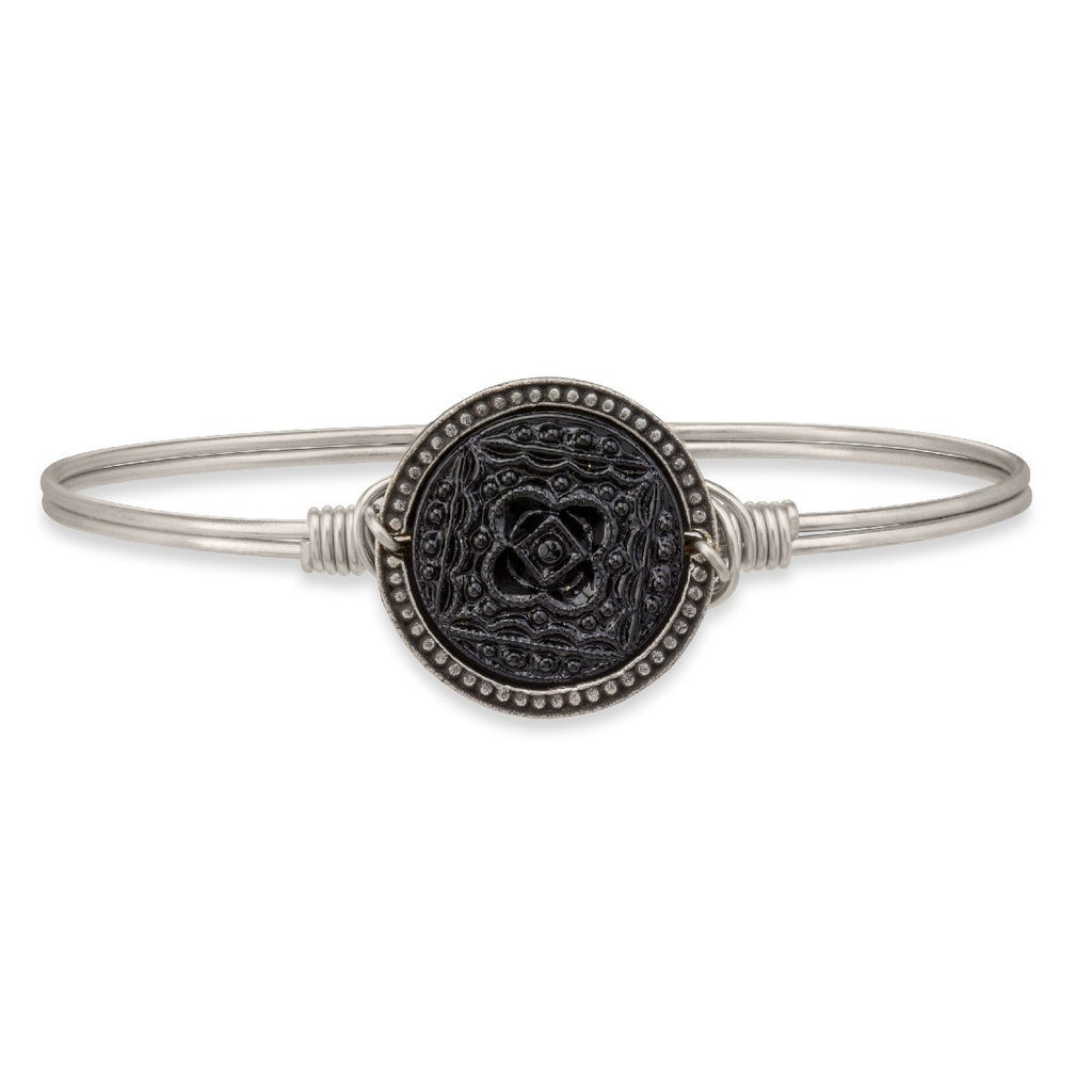 Mandala Bangle Bracelet in Glacier Jet