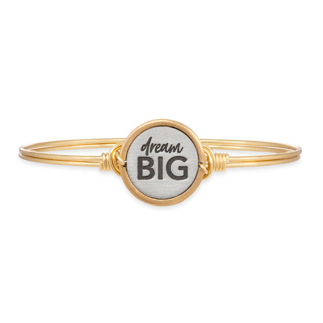 Dream Big Bangle Bracelet-Bangle Bracelet-Regular-finish:Brass Tone-Luca + Danni