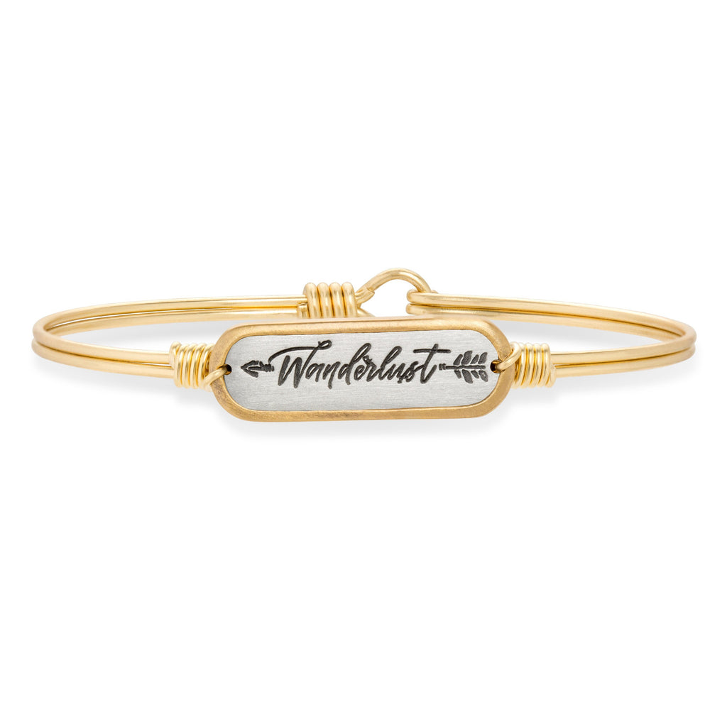 Wanderlust Bangle Bracelet-Bangle Bracelet-Regular-finish:Brass Tone-Luca + Danni