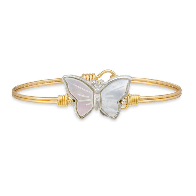 Butterfly Shell Bangle Bracelet
