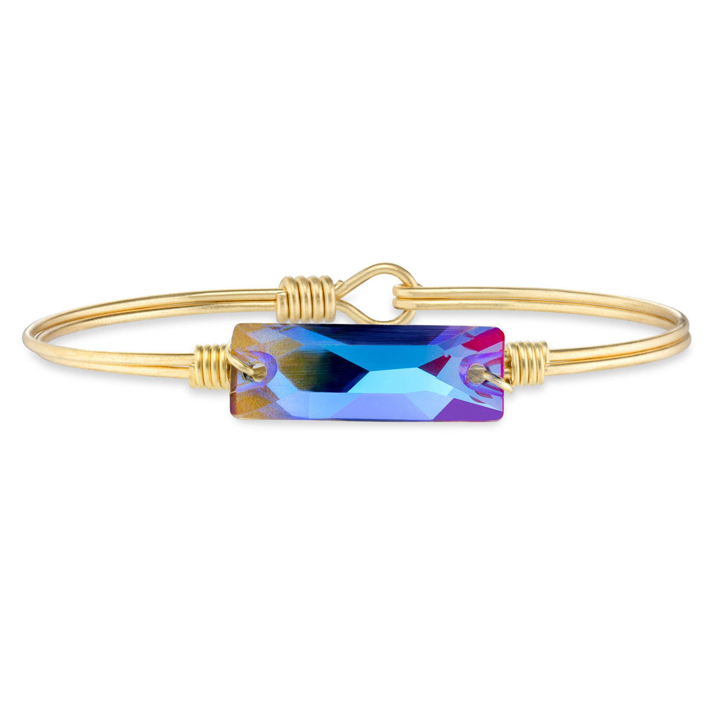 Hudson Bangle Bracelet in Unicorn-Bangle Bracelet-Regular-finish:Brass Tone-Luca + Danni