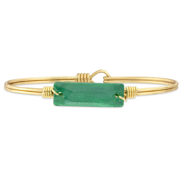 Fraser Fir Hudson Bangle Bracelet finish:Brass Tone