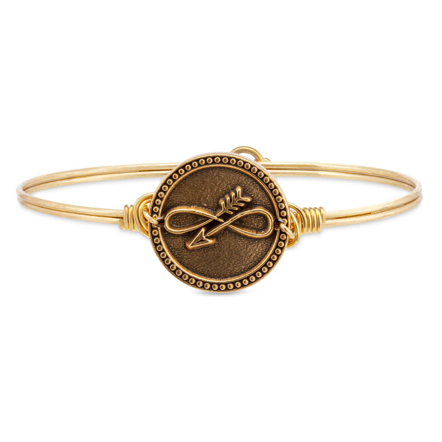 Embrace the Journey Bangle Bracelet in Rustic Gold