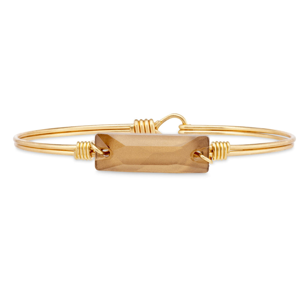 Hudson Bangle Bracelet in Rustic Gold