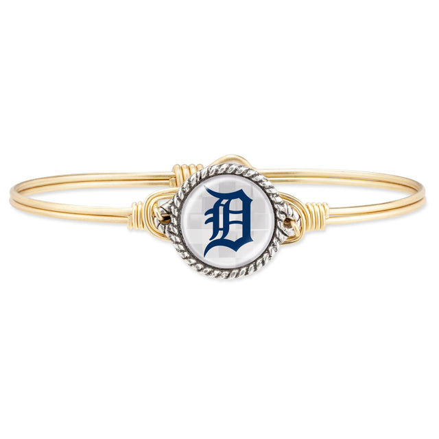 Detroit Tigers Bangle Bracelet-Bangle Bracelet-Regular-finish:Brass Tone-Luca + Danni