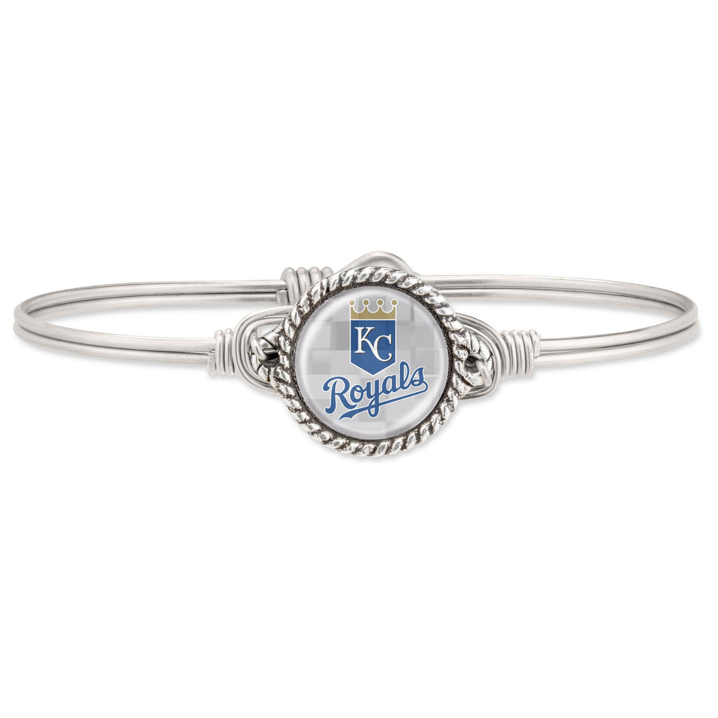 Kansas City Royals Bangle Bracelet choose finish:Silver Tone