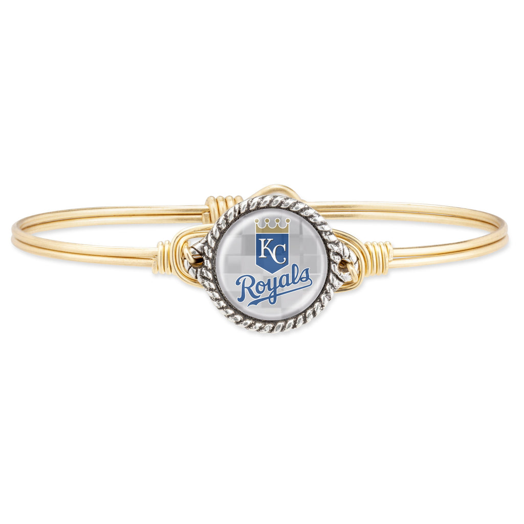 Kansas City Royals Bangle Bracelet choose finish:Brass Tone