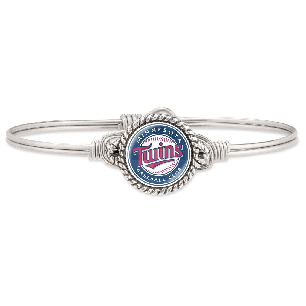 Minnesota Twins Bangle Bracelet choose finish:Silver Tone