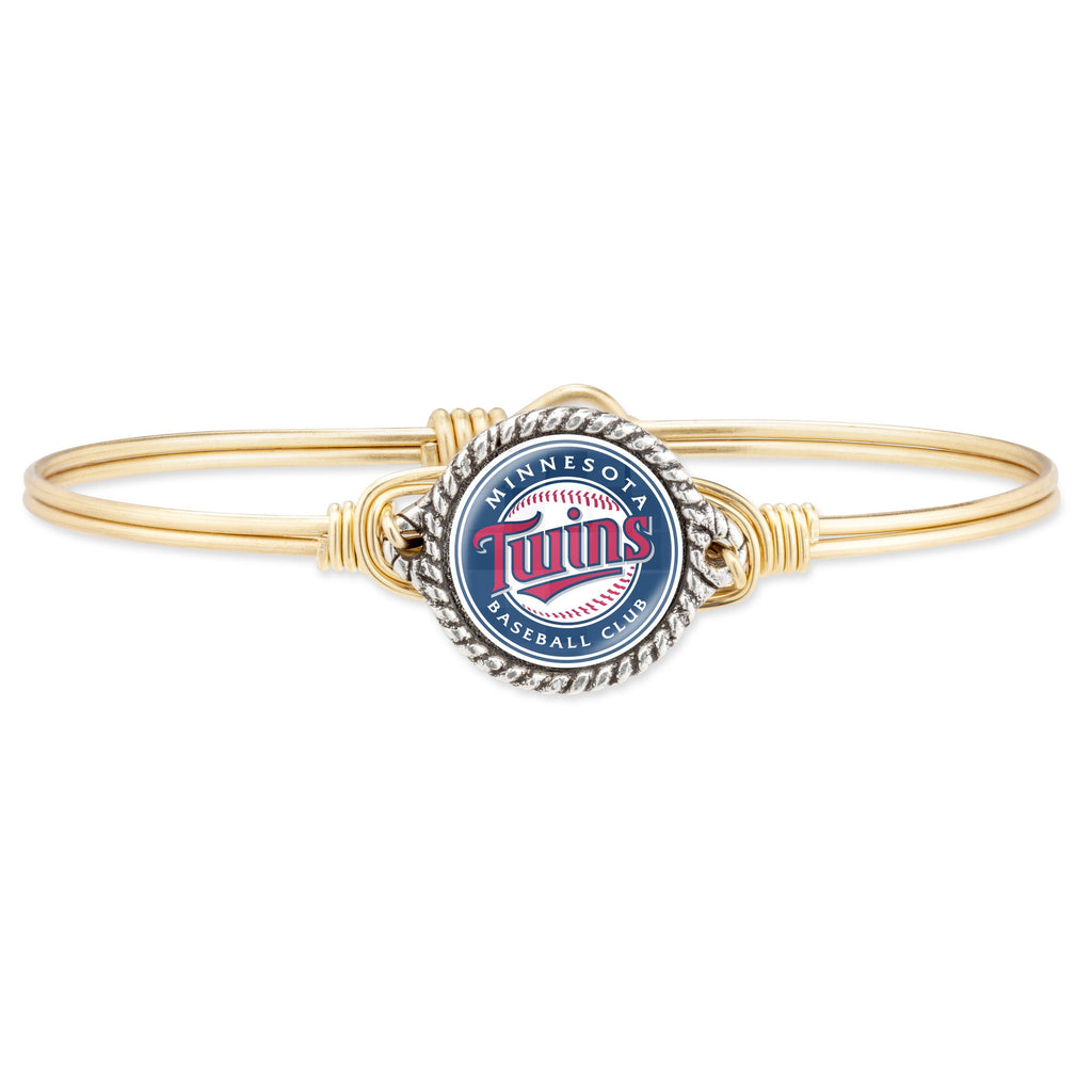 Minnesota Twins Bangle Bracelet choose finish:Brass Tone