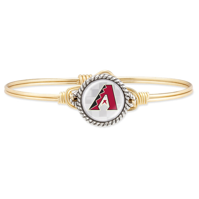 Arizona Diamondbacks Bangle Bracelet-Bangle Bracelet-Regular-finish:Brass Tone-Luca + Danni