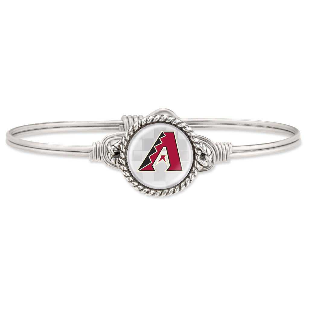 Arizona Diamondbacks Bangle Bracelet choose finish:Silver Tone