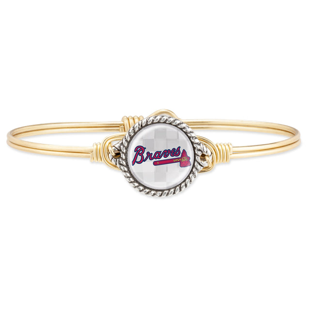 Atlanta Braves Bangle Bracelet-Bangle Bracelet-Regular-finish:Brass Tone-Luca + Danni