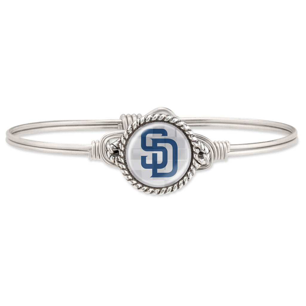 San Diego Padres Bangle Bracelet choose finish:Silver Tone