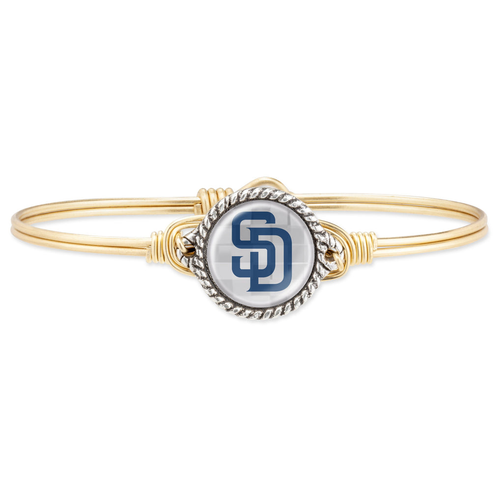 San Diego Padres Bangle Bracelet choose finish:Brass Tone