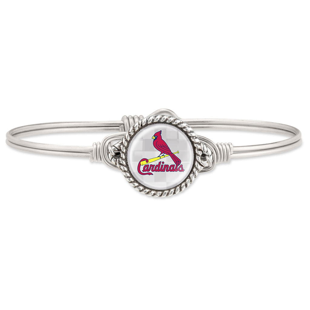 St. Louis Cardinals Bangle Bracelet choose finish:Silver Tone