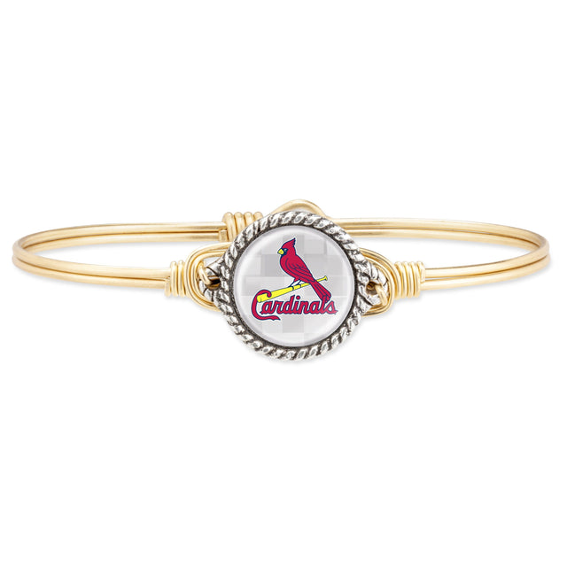 St. Louis Cardinals Bangle Bracelet-Bangle Bracelet-Regular-finish:Brass Tone-Luca + Danni