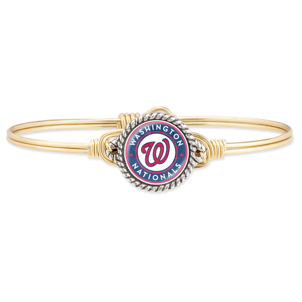 Washington Nationals Bangle Bracelet-Bangle Bracelet-Regular-finish:Brass Tone-Luca + Danni