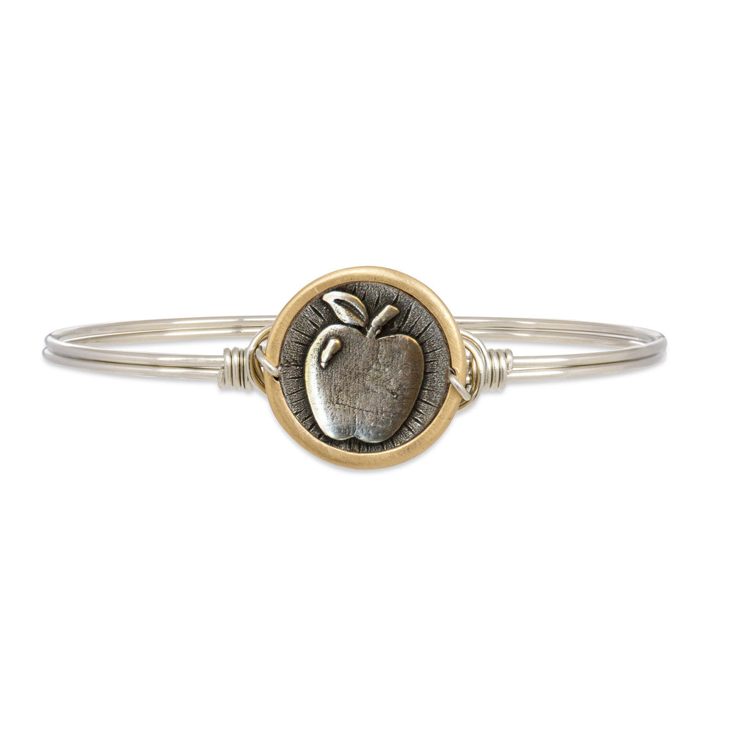 Apple Bangle Bracelet choose finish:Silver Tone