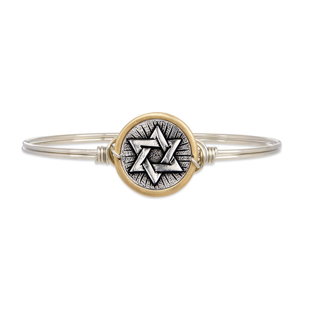 Star of David Bangle Bracelet finish:Silver Tone