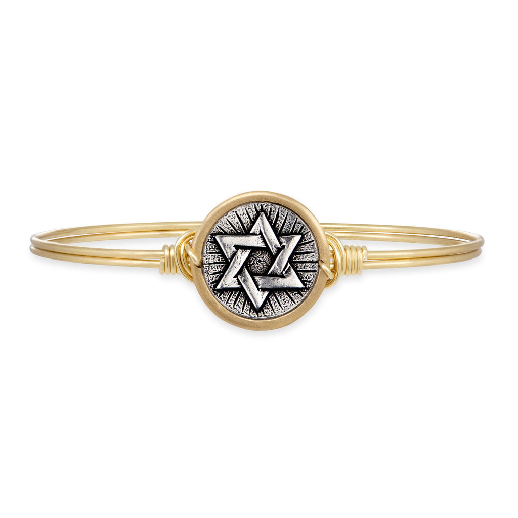 Star of David Bangle Bracelet finish:Brass Tone