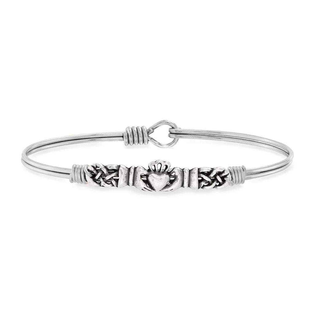 Claddagh Bangle Bracelet finish:Silver Tone
