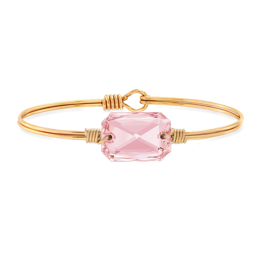 Dylan Bangle Bracelet in Vintage Rose finish:Brass Tone
