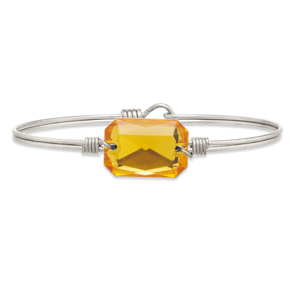 Dylan Bangle Bracelet in Sunflower finish:Silver Tone