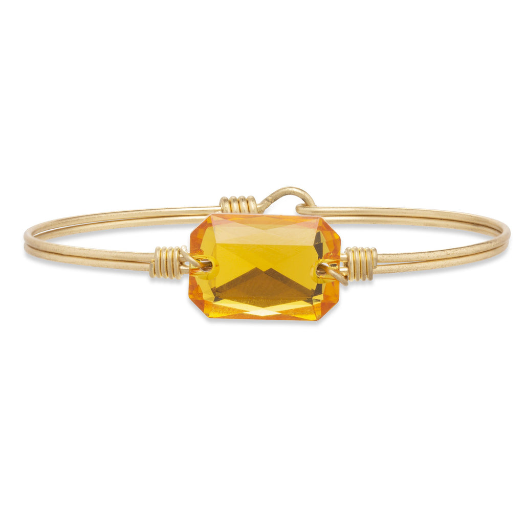 Dylan Bangle Bracelet in Sunflower finish:Brass Tone