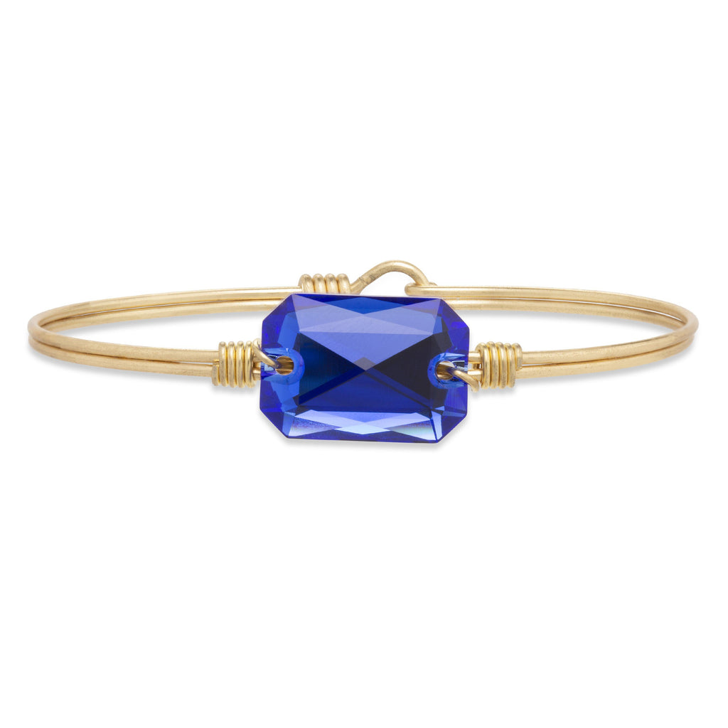 Dylan Bangle Bracelet in Majestic Blue finish:Brass Tone