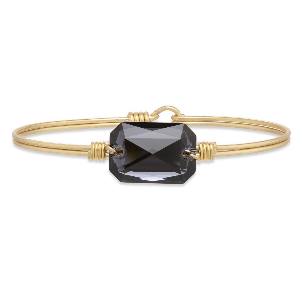 Dylan Bangle Bracelet in Graphite finish:Brass Tone