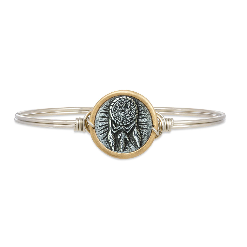 Dreamcatcher Bangle Bracelet finish:Silver Tone