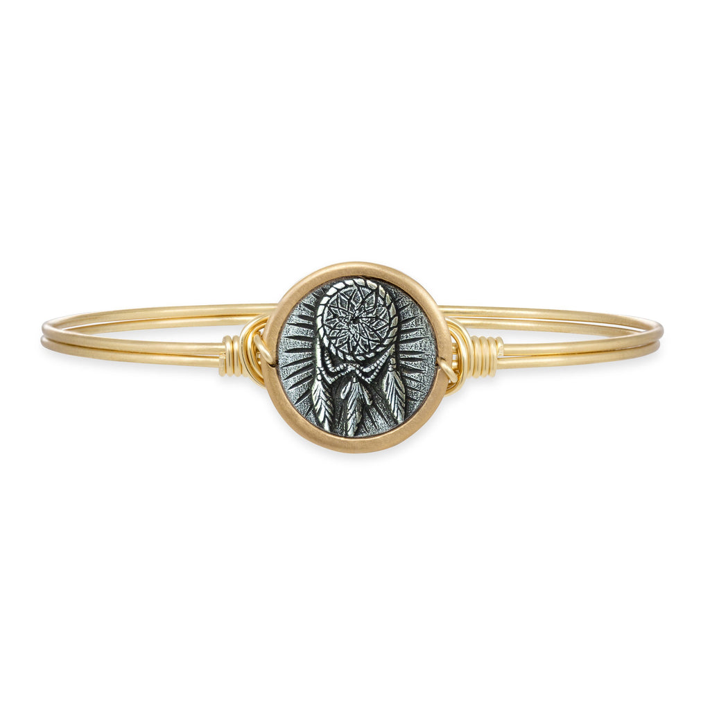 Dreamcatcher Bangle Bracelet choose finish:Brass Tone
