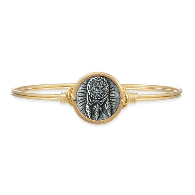 Dreamcatcher Bangle Bracelet finish:Brass Tone