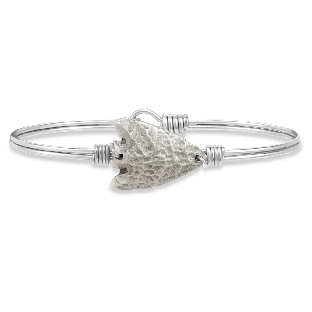 Arrowhead Bangle Bracelet finish:Silver Tone