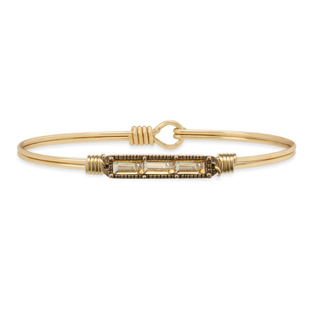 Mini Hudson Bangle Bracelet in Champagne