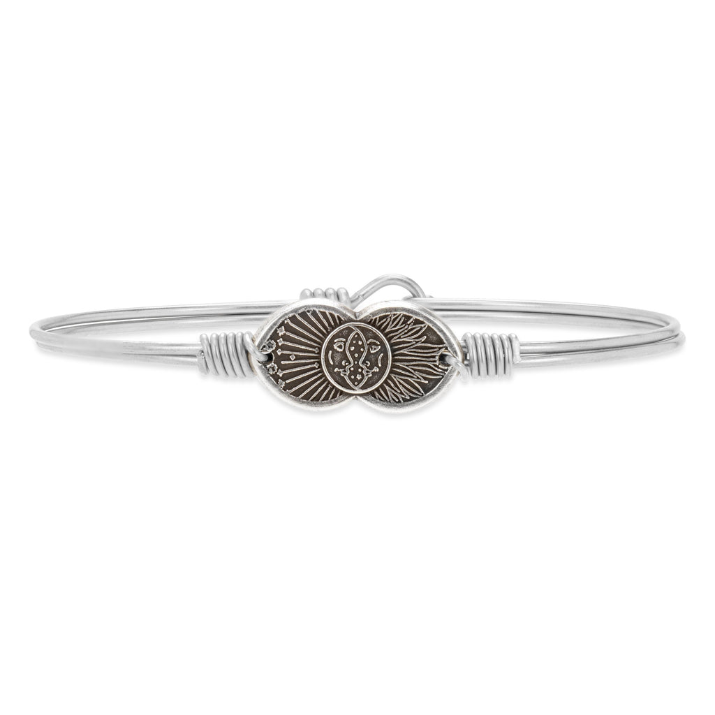 Celestial Love Bangle Bracelet choose finish:Silver Tone