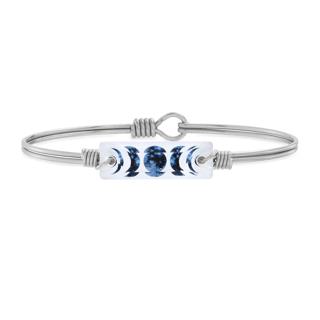 Luna Bangle Bracelet choose finish:Silver Tone